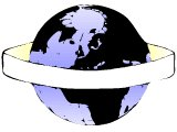 Globe of planet with banner round it